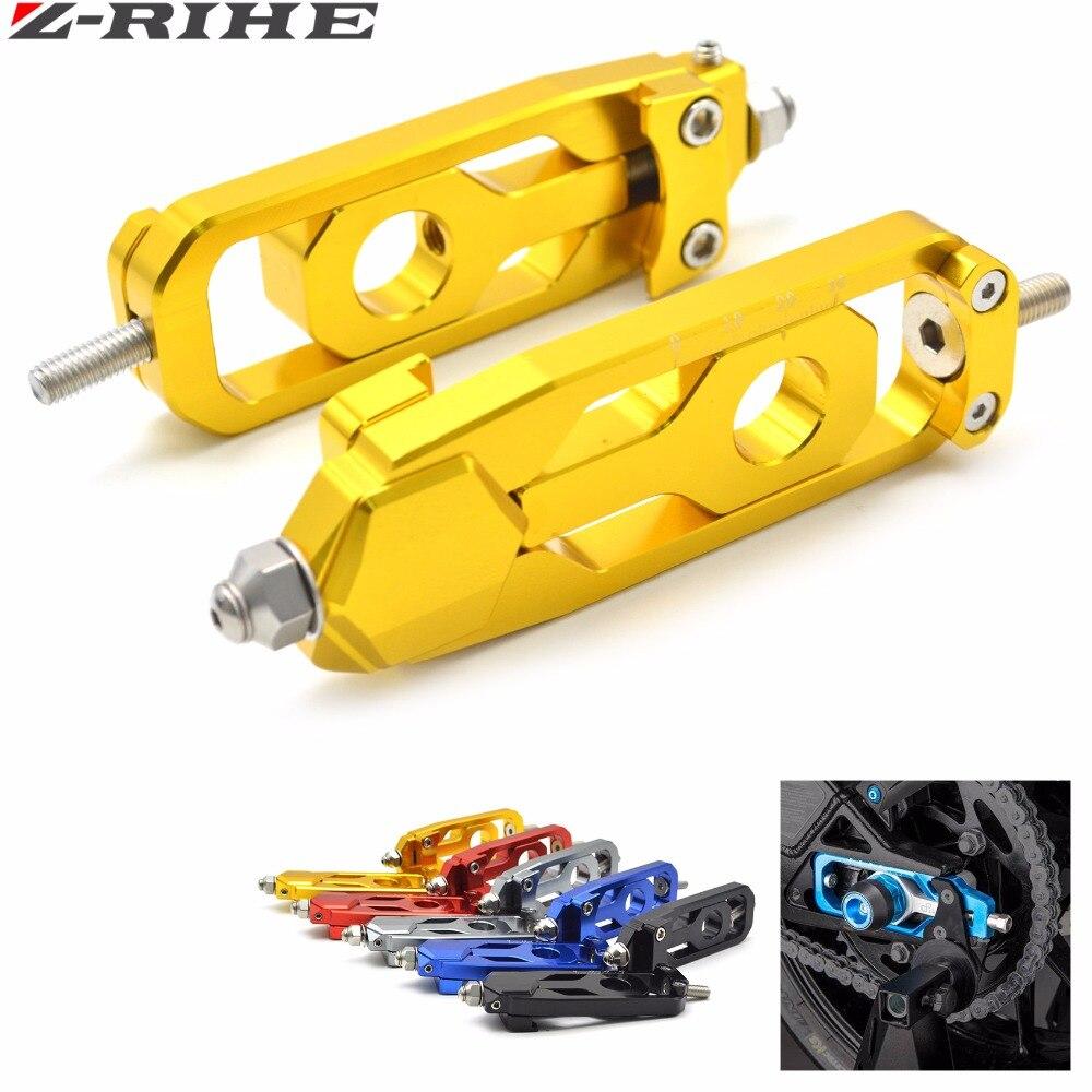 Para yamaha MT-09 cnc da motocicleta de alumínio corrente ajustadores tensores para yamaha MT-09 mt09 fz09 FZ-09 FZ-09 FJ-09 mt 09