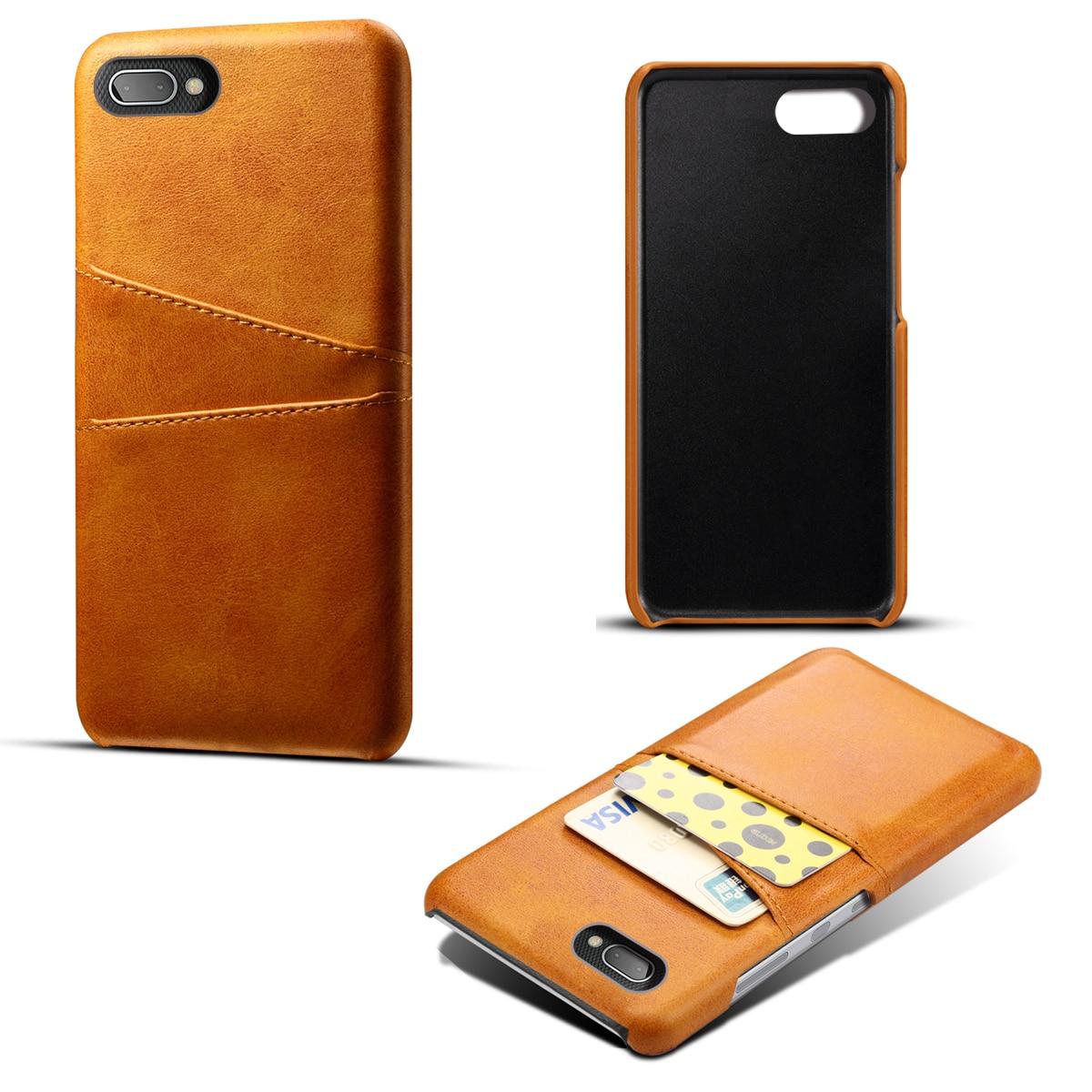 Для BlackBerry Key2 чехол телячья кожа ретро PU кожаный чехол с отделениями для карт против царапин защитный чехол для BlackBerry Key2 LE