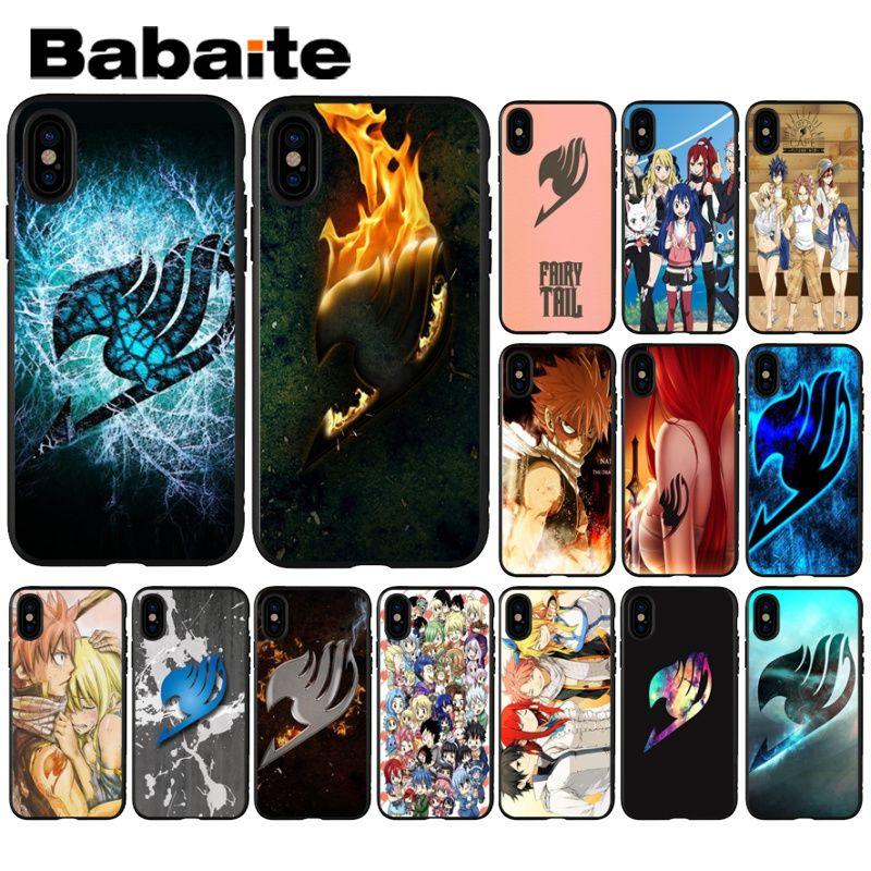 Babaite Anime Mangá Fairy Tail logo TPU Macio Silicone Case Capa Do Telefone para o iphone 8 7 6 6 S Plus 5 5S SE XR X XS MAX Coque Shell