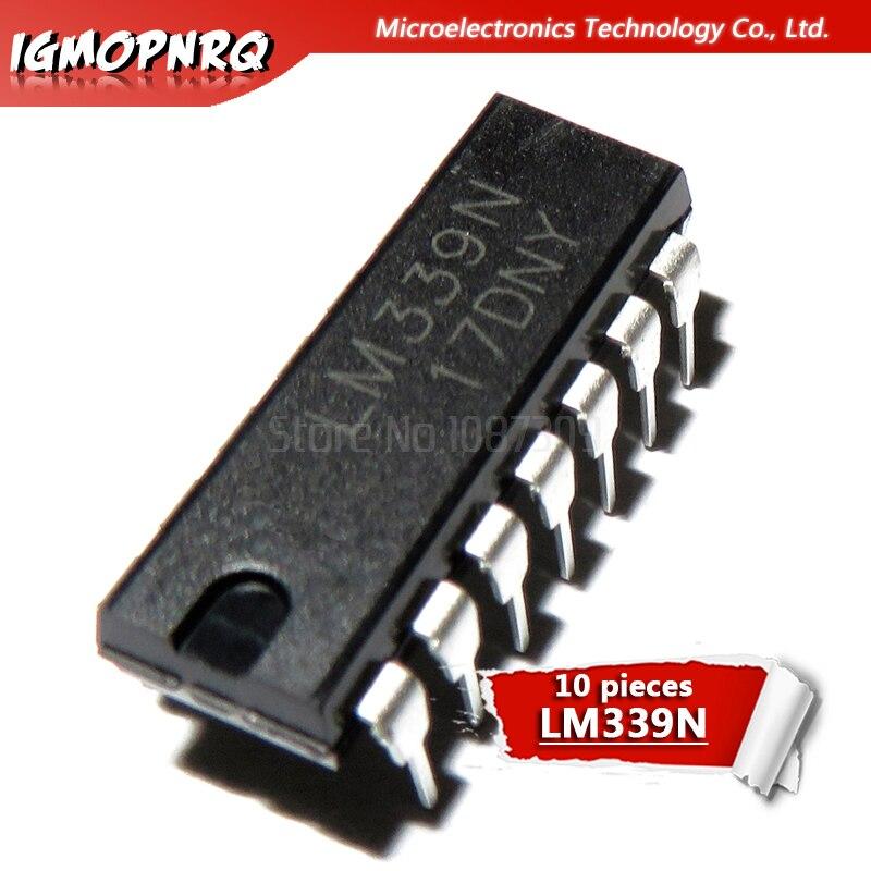 10 Uds LM339N LM339 DIP-14 comparadores Quad diferencial nuevo original