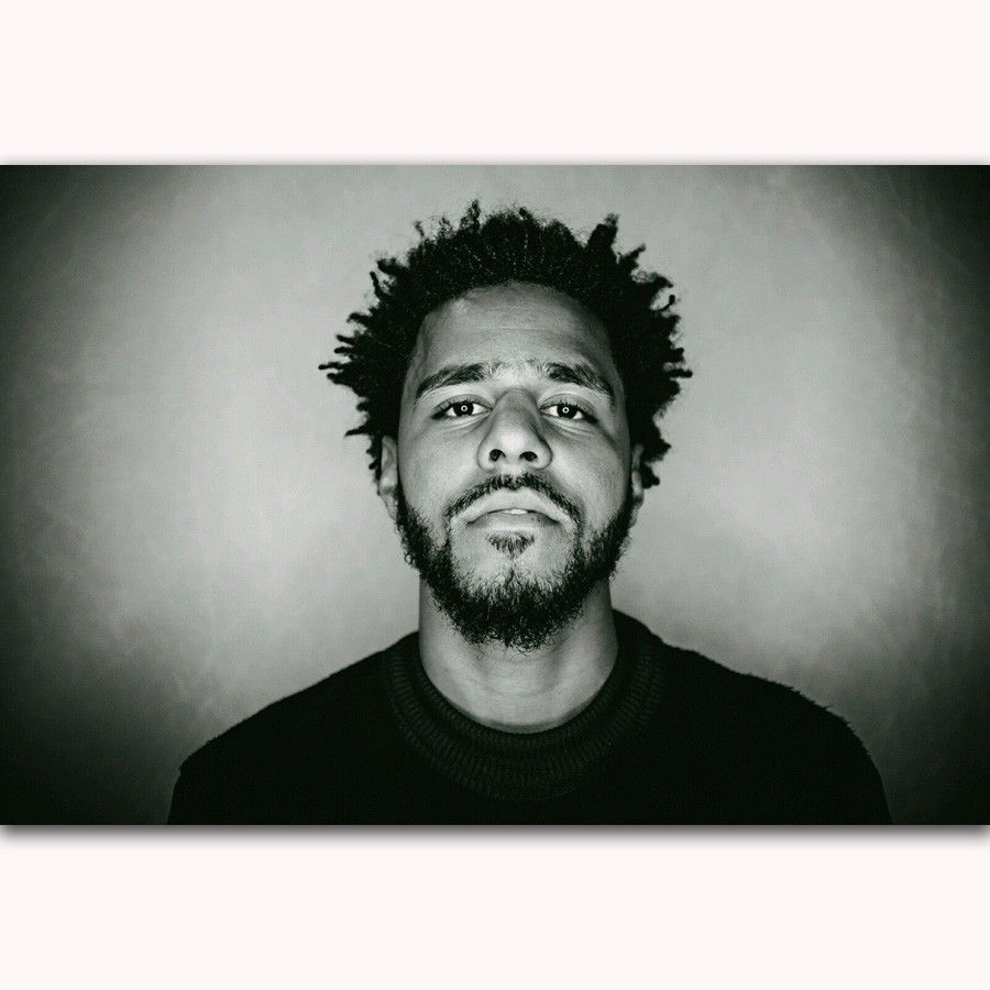 Caliente J Cole rapero Hip Hop increíble música-arte de seda cartel Pared de mimbre decoración regalo