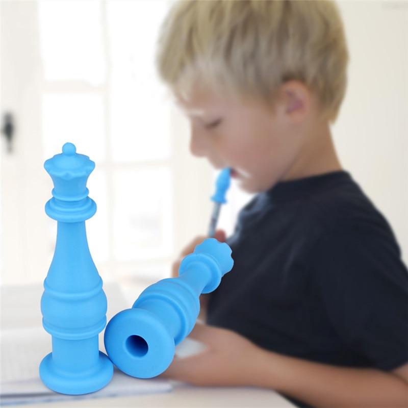 Silicona masticable lápiz Toppers tubos masticables Fidgets bebé mordedores FDA BPA gratis niños herramientas de dentición Drop Shipping