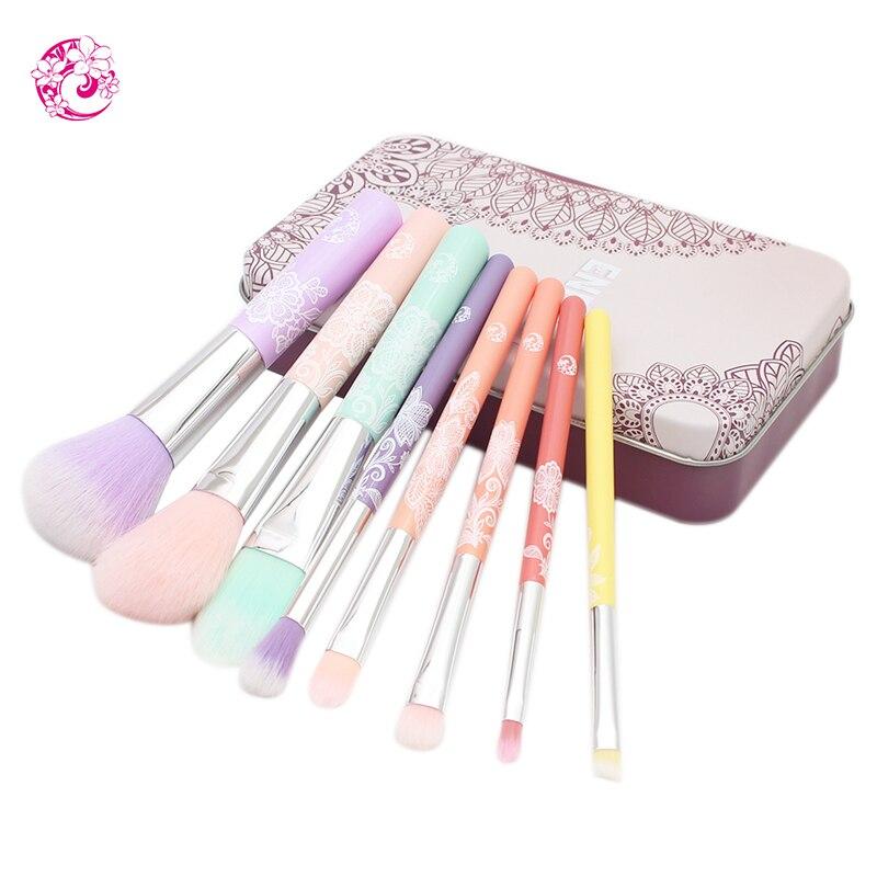 Marca Energy 8 Uds maquillaje profesional cepillo set cabello de nylon Pincel, Maquiagem Brochas Pinceaux qc0