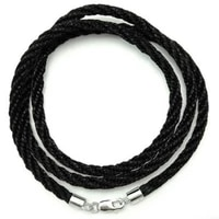 18 2 0mm fabric cotton braided cord rope necklace with s925 color lobster clasps jewelry making bijoux