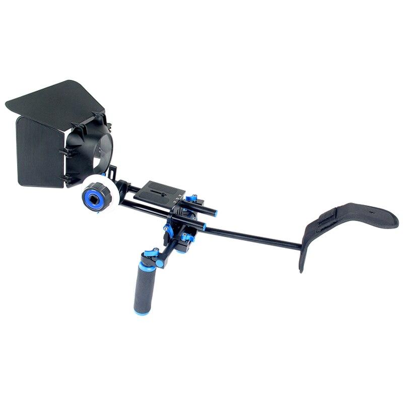 Juego de equipo de película DSLR 3 en 1, sistema de filmación, soporte de hombro, caja mate de enfoque de seguimiento para videocámara de cámara Canon Nikon Sony