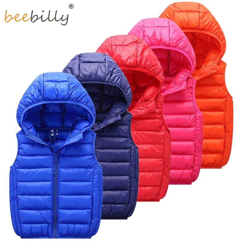 Kids Vest Children's Girls Vest Hooded Jacket Winter Autumn Waistcoats for Boy Baby Outerwear Coats