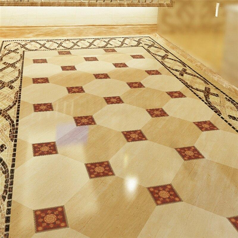 20 unids/set 10*10 cm, baldosas de estilo europeo, pegatinas diagonales para pared, para baño, cocina, suelo, pegatinas DIY impermeables, decoración