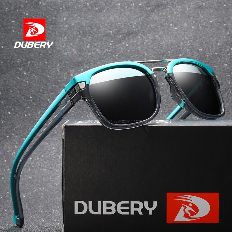 DUBERY 2019 Spuare Mirror Sunglasses Brand Design Polarized Sunglasses Men Driver Shades Male Vintag
