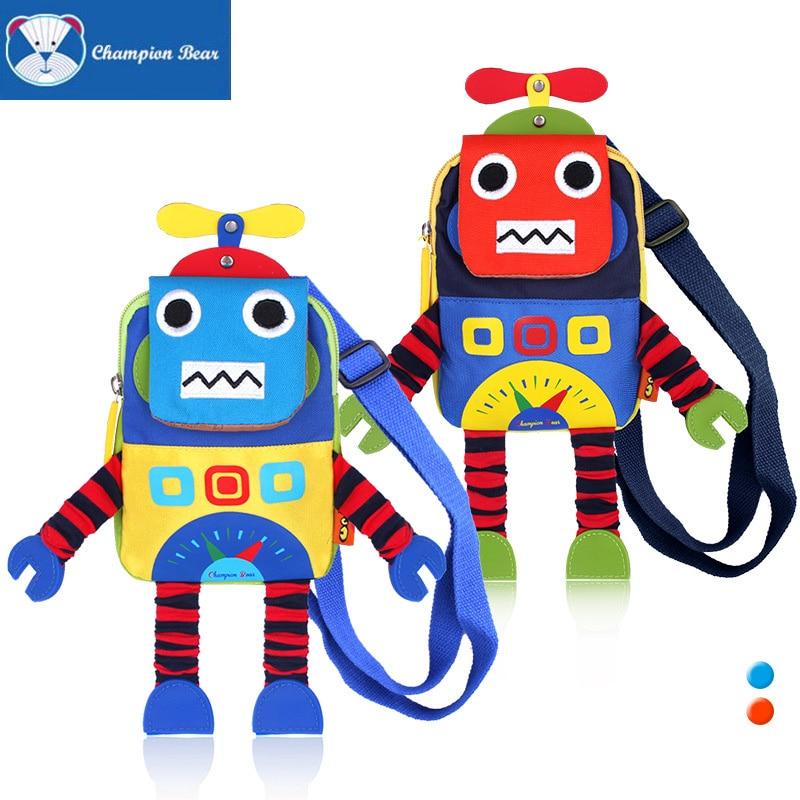 جديد طفل لمكافحة خسر رسول حقيبة طفل رضيع كيس القطن الكرتون آلة روبوت اللعب رياض الأطفال حقيبة الظهر الرضع