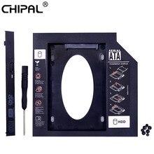 CHIPAL Universal 2nd HDD Caddy 9.5mm SATA 3.0 na 2.5 ''9mm 7mm obudowa na ssd obudowa dysku twardego na laptopa DVD-ROM CD-ROM Optibay