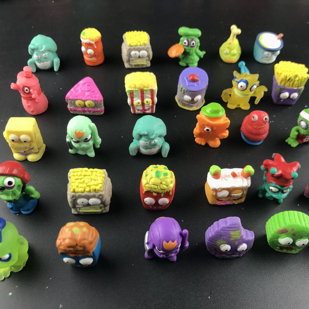 100 шт./лот, популярные Мультяшные Аниме фигурки, игрушки, мусор и лось, гроссери, модель игрушки, куклы, Детский Рождественский подарок