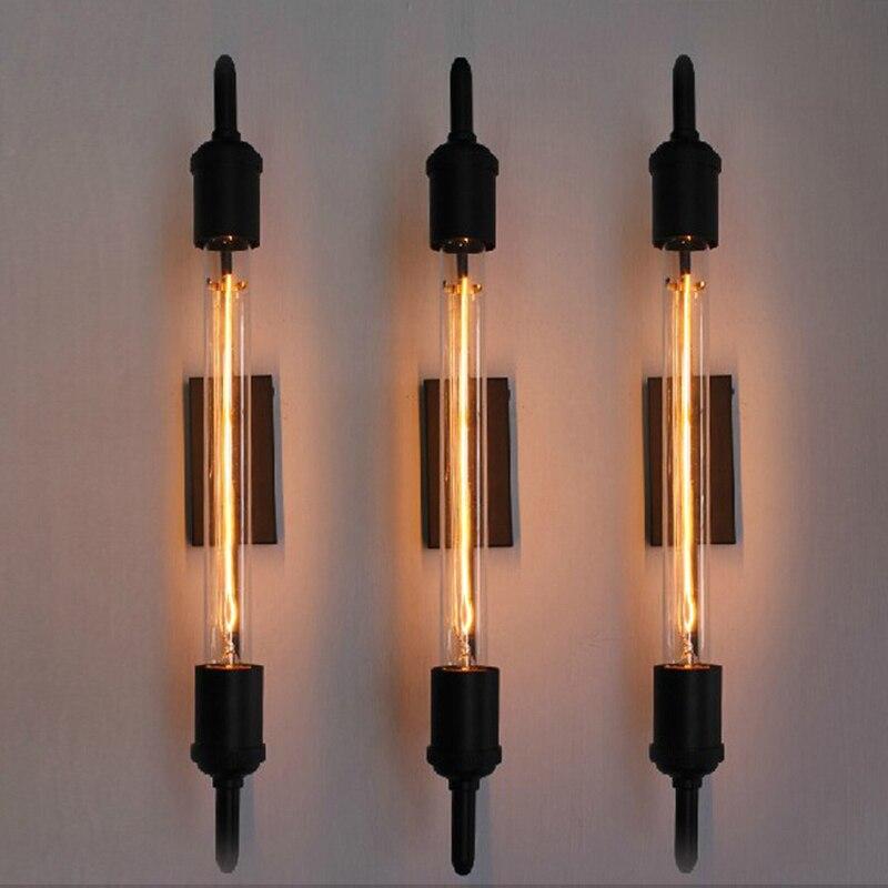 Винтажный настенный светильник Эдисона, трубы, черные бра, паровые античные туалетные светильники, ночные светильники, Светильники для бар...