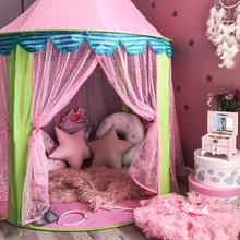 Mädchen Prinzessin rosa Schloss Zelt Fee Schloss Zelt Nette Spielhaus Kinder Kinder Kinder Spielen Schlafen Spielzeug Innen zelt