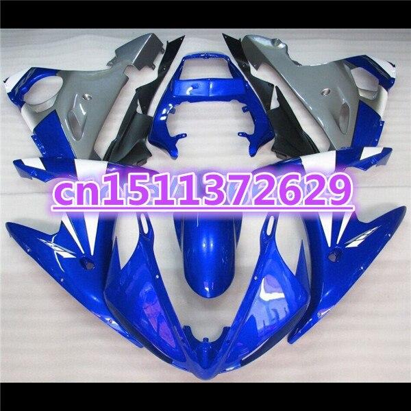 الأزرق الأبيض هدية هيكل السيارة ل YZF R6 2003 2004 2005 YZF-R6 03 04 05 YZFR6 600 03-05 هدية كيت-دور D