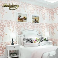beibehang papel de parede romantic garden fresh rattan non woven bedroom living room sofa background wallpaper 3d wall paper