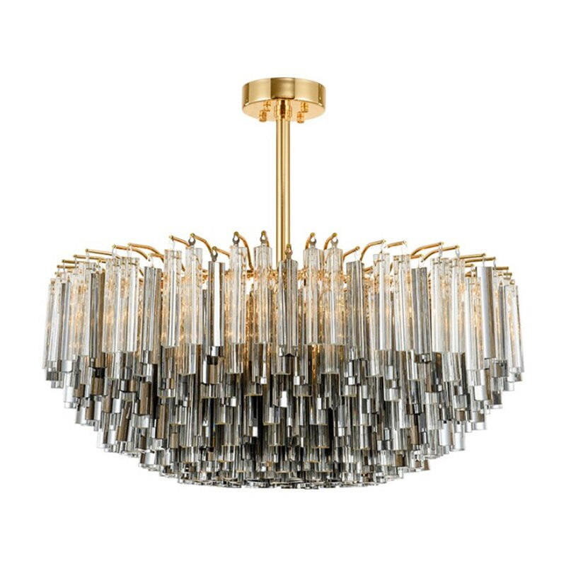 ثريا زجاجية كريستالية عصرية بسيطة أوروبية ما بعد الحداثة تعلق مصباح إضاءة خلاقة لغرف المعيشة في صالة العرض