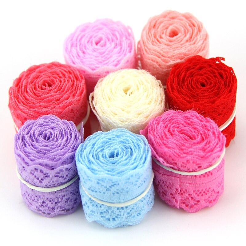 ¡Nuevo! Cinta de encaje de 30MM de ancho (9m), 10 yardas por lote, tela de encaje bordada de bricolaje rojo para costura, decoración de boda, 9 colores