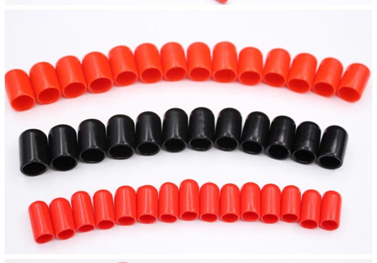 20 piezas 25/27/28/30/32/34/36/38/40/42/45/48/50mm diámetro interior tuercas de PVC Cable de alambre rojo Negro