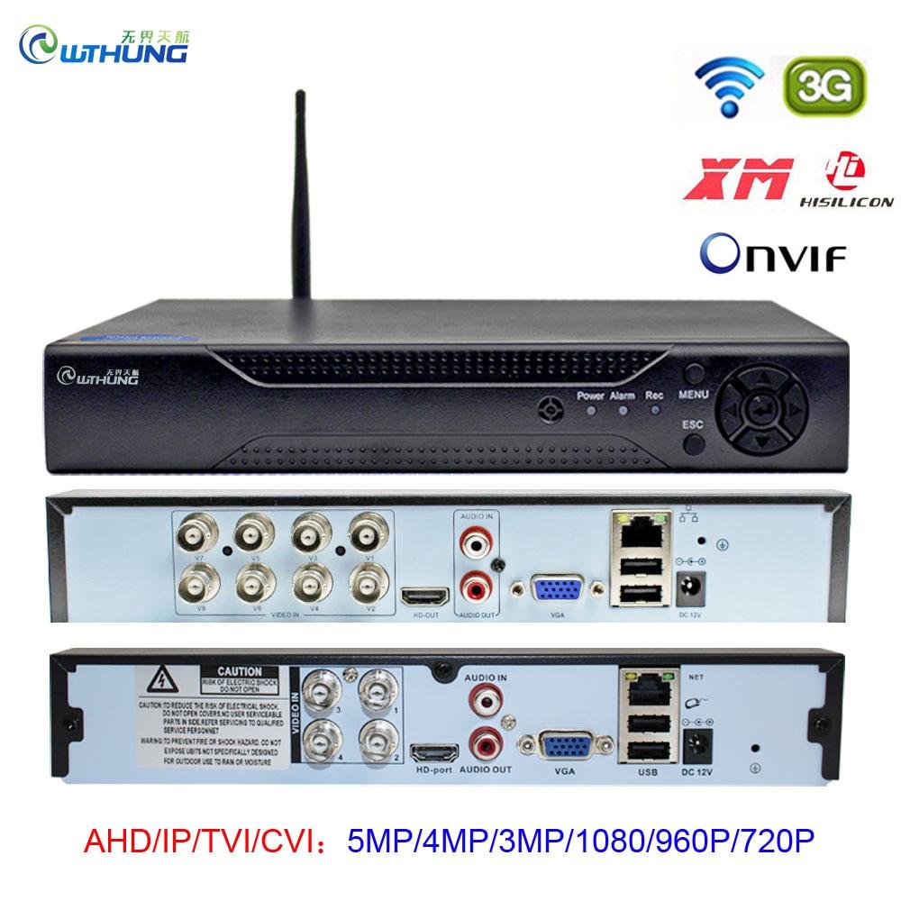 5MP H.265 4CH 8CH CCTV Wifi DVR P2P Xmeye Cloud Video Recorder Home Surveillance Security CCTV Digital ONVIF For AHD IP Camera