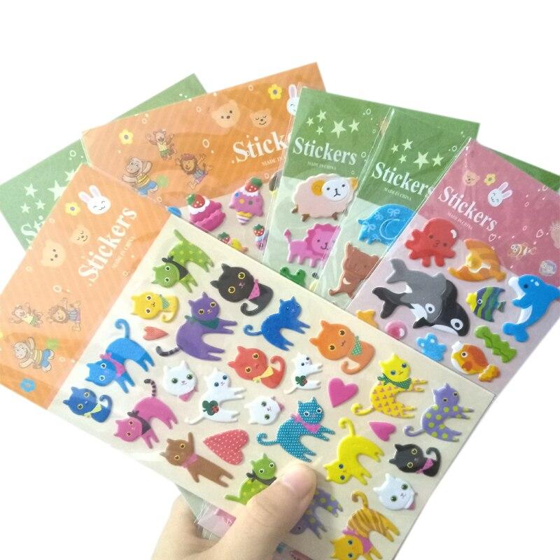 1 Pçs/lote KawaiiKorean bolha das crianças dos desenhos animados anime três-dimensional adesivos auto-adesivo DIY Adesivos Decorativos