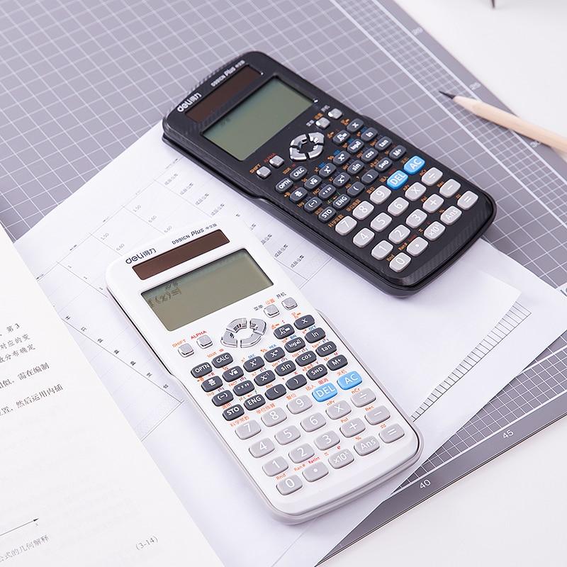 Calculadora cientifica con función de energía solar de 16 dígitos para estudiantes de oficina, Calculadora financiera científica Deli D991CN