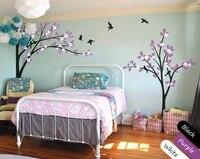 Mignon fleurs coin decoratif arbre autocollant Mural pepiniere enfants chambre doux decor enfants arbre motif vinyle Mural DecalsY-954