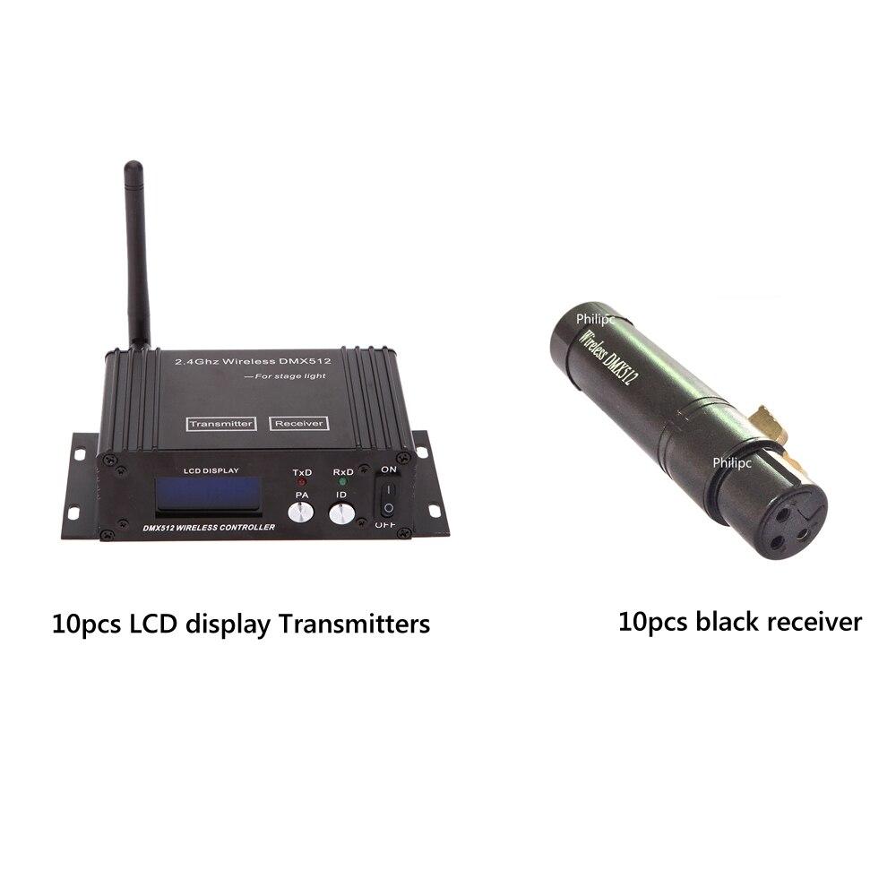 Controlador inalámbrico DMX de 2,4G, controlador inalámbrico de pantalla LCD y Mini receptor inalámbrico Dmx para luces de escenario de DJ