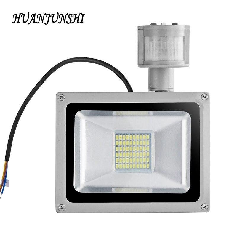 Luz Led de inundación, Sensor de movimiento 30W 50W 100 W, Reflector de 220V Reflector Led, lámpara de proyector impermeable, iluminación exterior