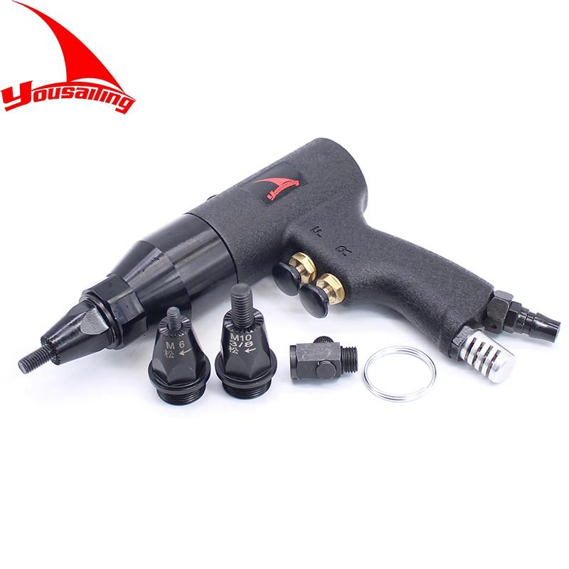 Rebites de ar Apenas para Porcas de Rebite Qualidade M10 M12 Pneumático Rebitador Puxar Setter Porca Arma Ferramenta Pneumática Alumínio m4 – m5 M6m8