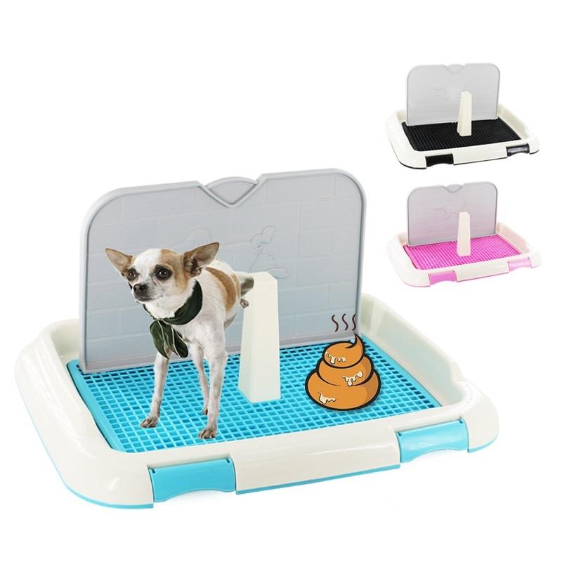 Bandeja de inodoro reutilizable para perros y gatos, columna con tazón para...