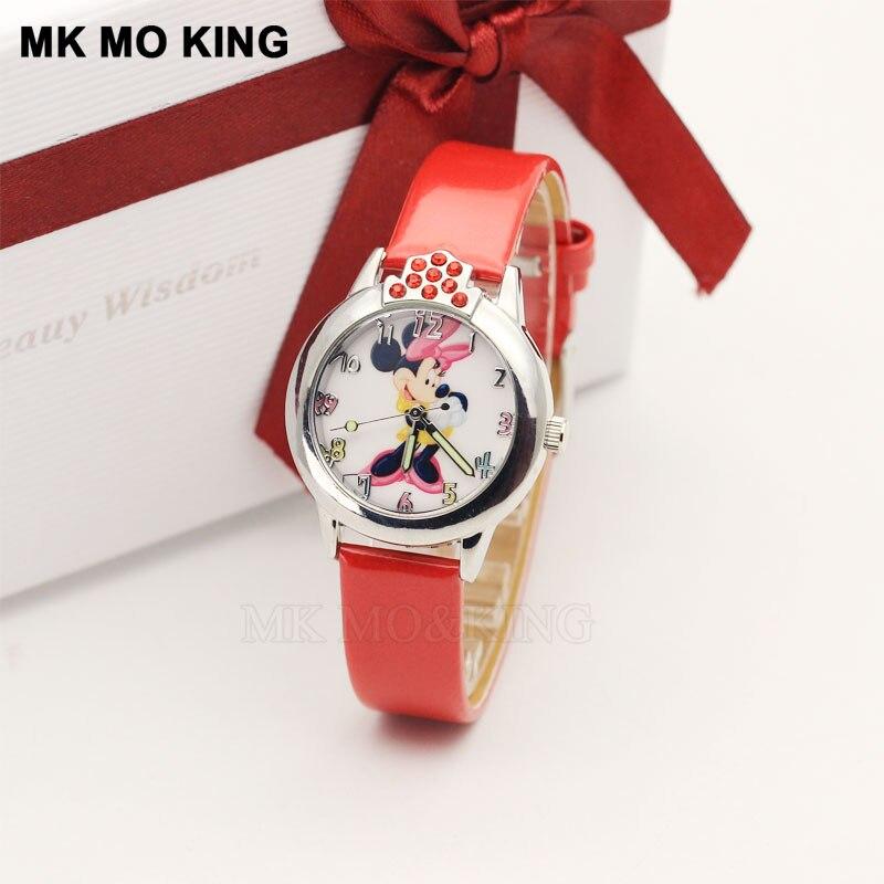 Relojes de alta calidad para niños, a la moda, resistentes al agua, con dibujos 3D de ratón, estudiante, hermana, vestido, regalo, fiesta, niño, reloj de pulsera de cuarzo