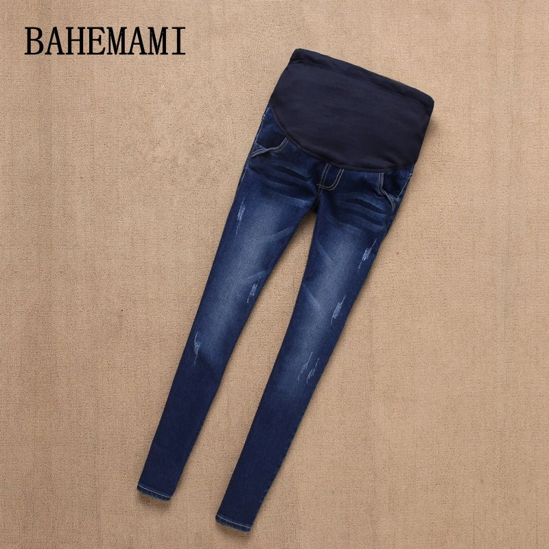 BAHEMAMI Maternity Jeans Pants For Pregnant Women Nursing Jeans Long Prop Belly Legging Skinny Clothes For Pregnancy Trousers enlarge
