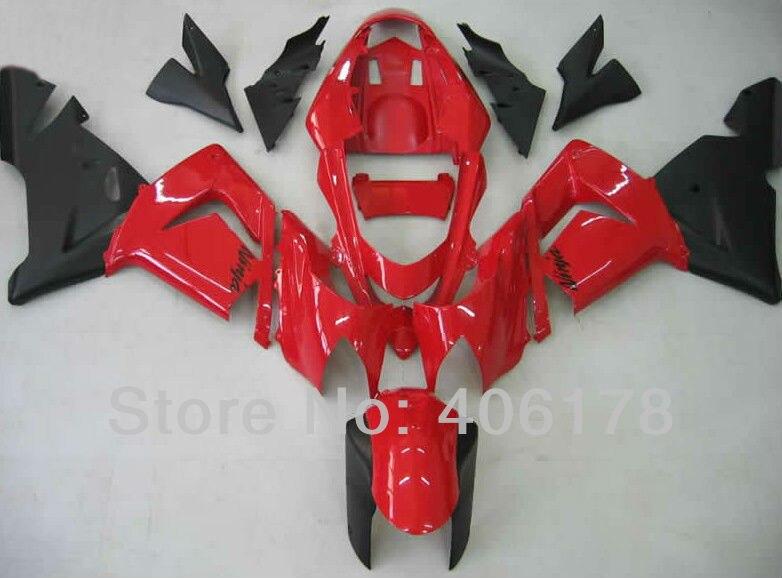 ZX-10R carenagens da motocicleta para ninja zx10r 04 05 2004 2005 conjuntos de carenagem da bicicleta do esporte vermelho (moldagem por injeção)