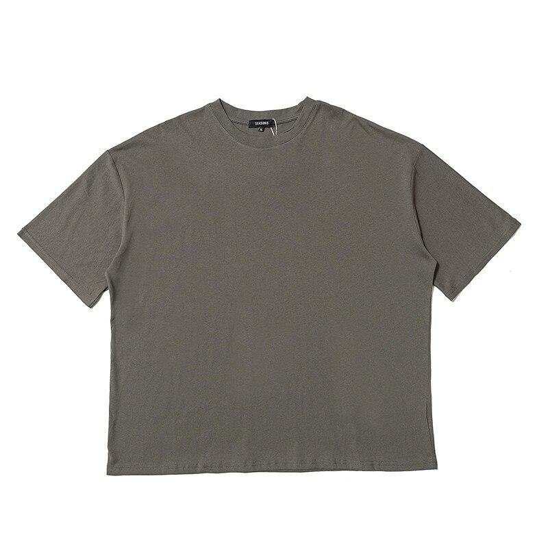 Temporada 19ss 6 camisetas de gran tamaño para hombres Kanye West camiseta de moda de alta calidad 6 camisetas de temporada