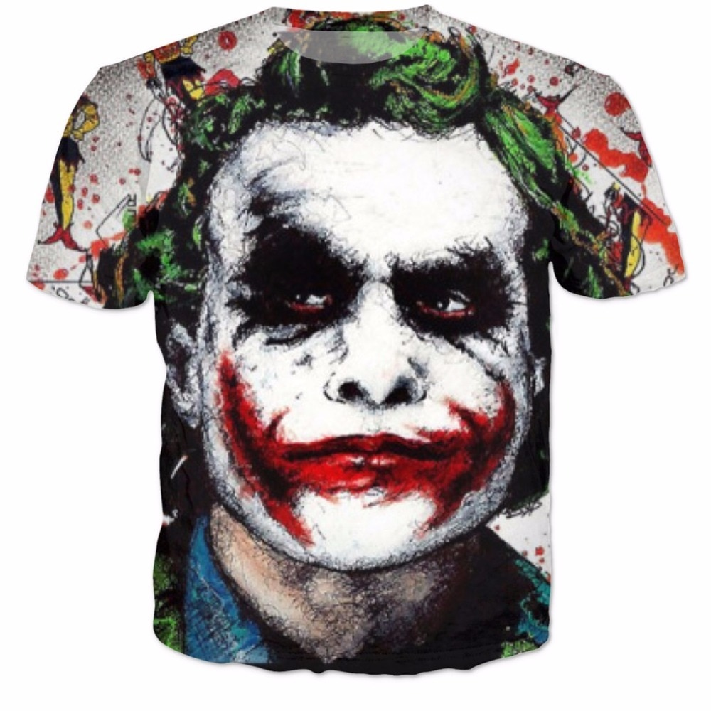 Batman, el Joker superhéroe de DC Comics 3D camiseta hombres mujeres T camisa Harley Quinn carnicería Joker camiseta traje de S-6XL R2085
