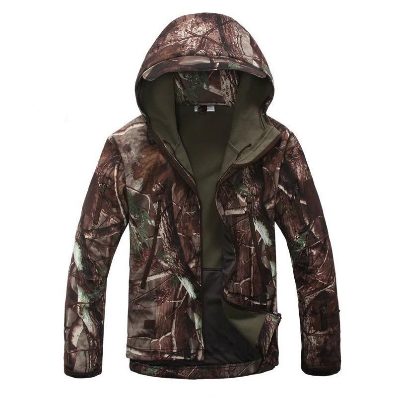 Chaqueta de senderismo táctica militar para hombre profesional al aire libre, piel de tiburón, Softshell V5, abrigo de caza al aire libre, abrigo de camuflaje militar con capucha