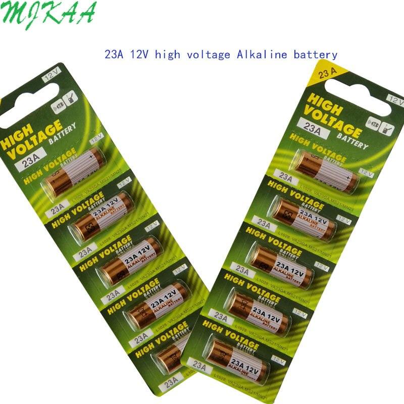 2Card 23AE 23GA A23 A23S E23A EL12 3LR50 V23GA MN21 L1028 MS21 RV08 VR22 GP23A 21/23 K23A Alkaline Dry 23a 12v Battery