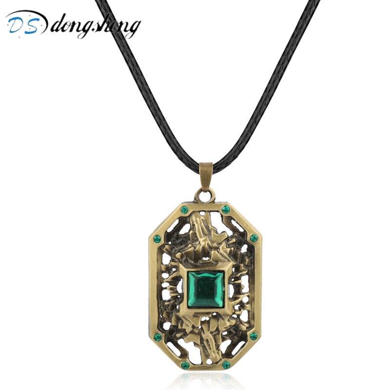 Dongsheng Dota 2 collar juego tierra joyas para el espíritu cristal gargantilla collar Vintage colgante accesorios aleación gargantilla collar-30