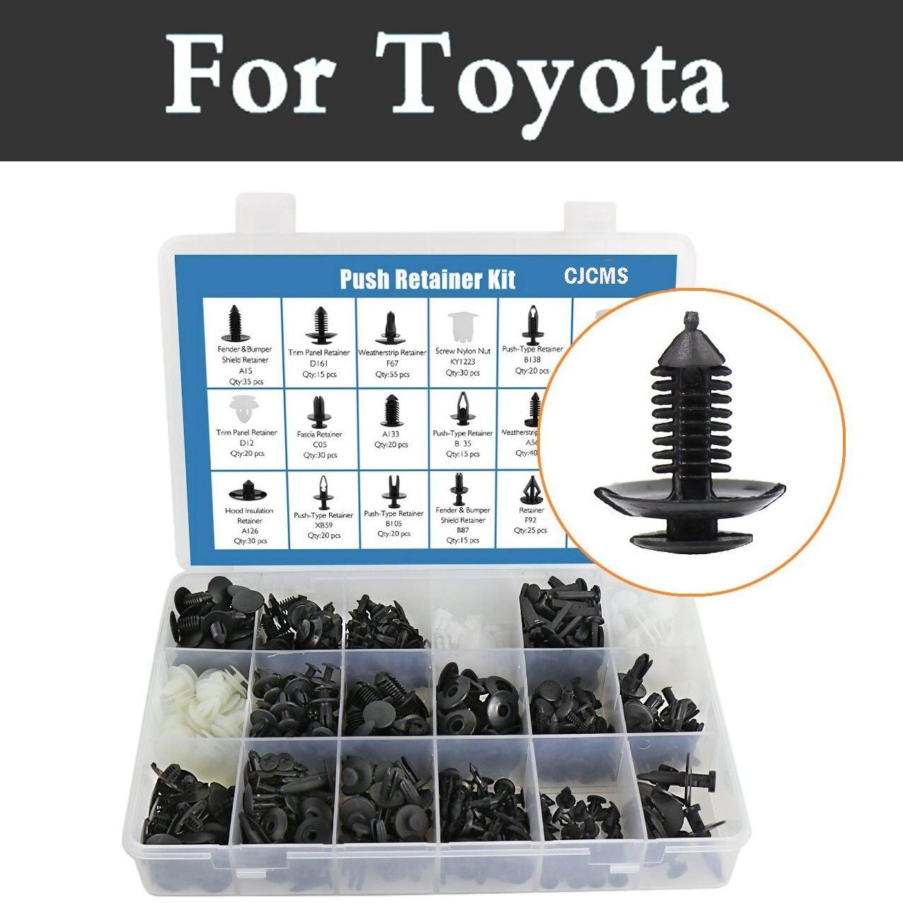 415 Uds retenedores de parachoques de Nylon, juego de remaches para Toyota Corolla Rumion Runx Cruiser Fortuner Gt86, kit de tornillos