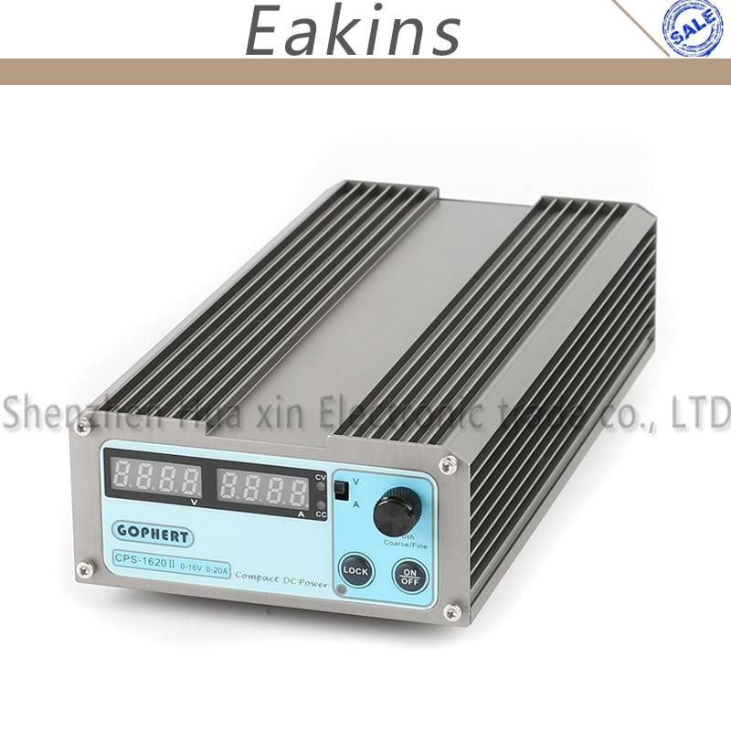 Interruptor Digital compacto de precisión GOPHERT, fuente de alimentación CC de baja potencia ajustable OVP/OCP/OTP 110V/230V 16V 20A MCU Control EU