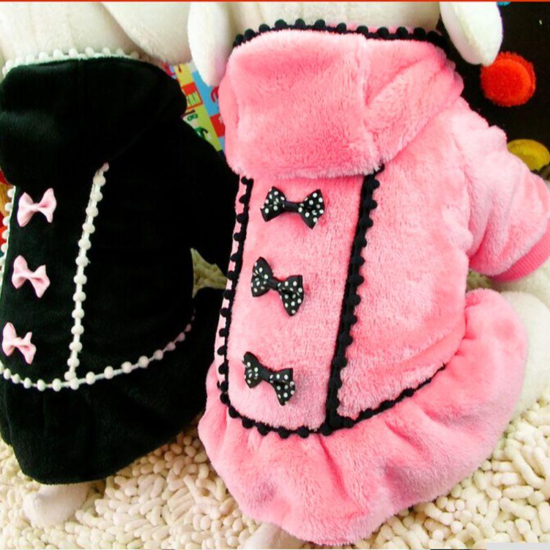 Ropa linda del perro del animal doméstico Linda moda vestido rojo negro del perro de colores ropa del perro pequeño cachorro faldas con lunares ropa nueva