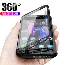 360 Complet Téléphone étui pour samsung Galaxy A6 A8 A7 J4 J6 Plus 2018 étui pour samsung A3 A5 J3 J5 J7 2016 2017 Cas avec Verre