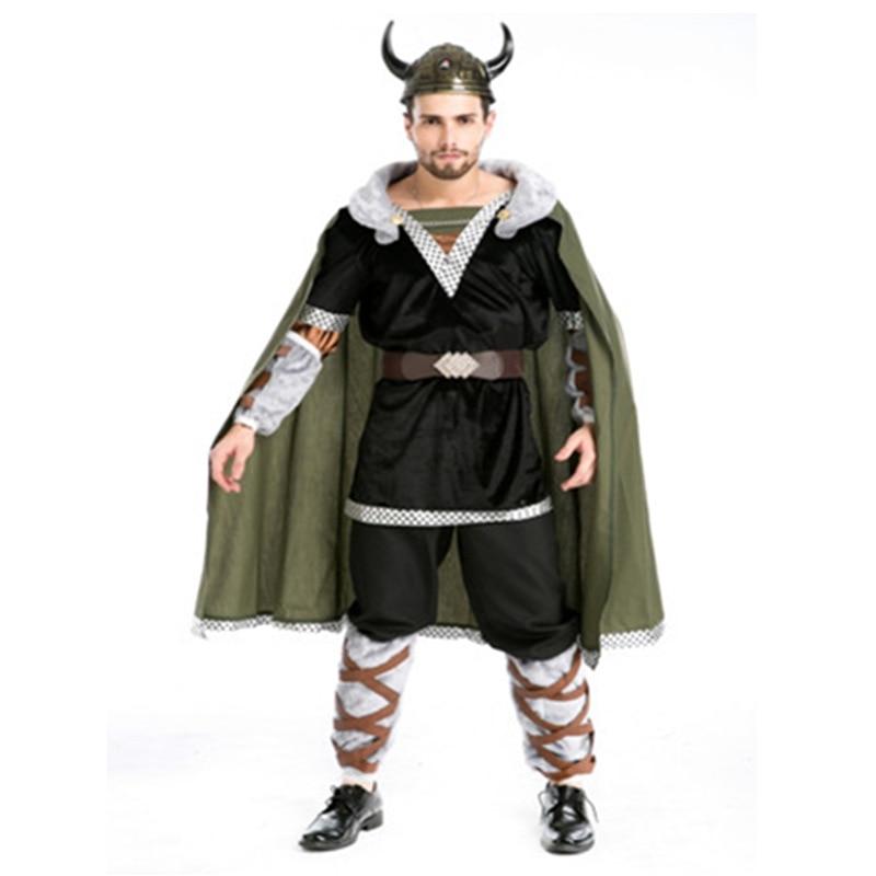 Green Cattle devil halloween costume men disfraces adultos pirate costume medieval cosplay costume disfraces halloween dress