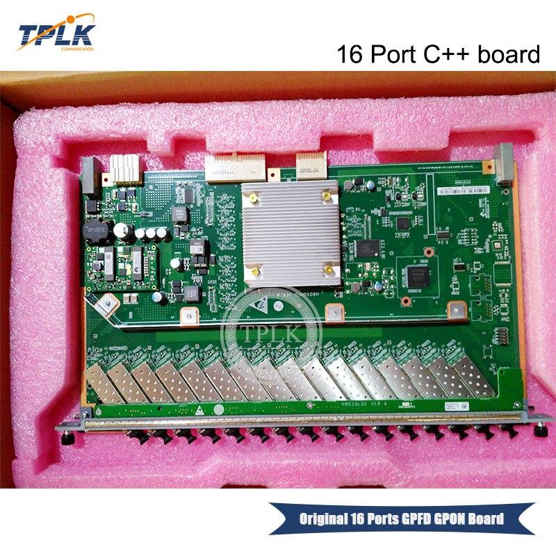 Hua wei 16 puertos PON GPFD con C + + SFP adecuado GPON OLT interfaz trabajo para smartAX MA5680T MA5683T MA5603T MA5608T