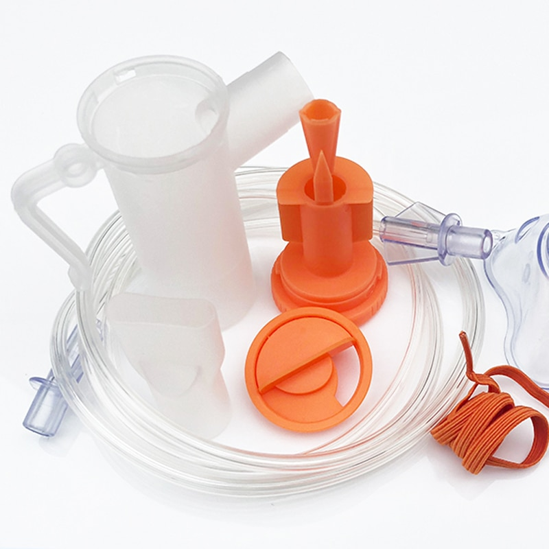 Children Adult Household Disposable Atomizer Mask Containing Atomizing Cup Connecting Pipe Nebulizer Inhaler Accessory