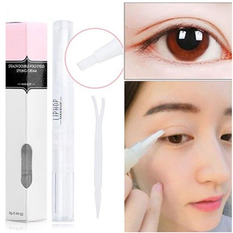 Duradero impermeable herramientas para los párpados delineador de ojos estereotipos Invisible pegamento doble maquillaje para belleza de ojos doblar cinta para párpados
