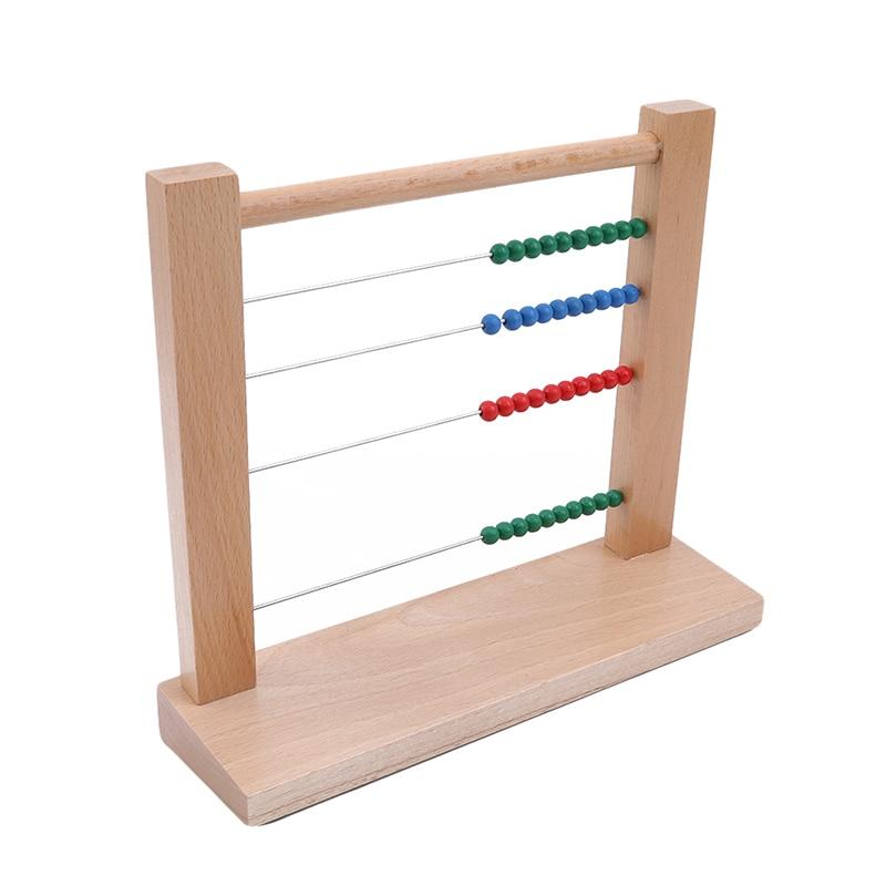 Juguete de matemáticas Montessori de madera para niños, abalorios de ábaco, juguete computarizado, diez cientos de cuentas de arena de casa, juguetes para niños