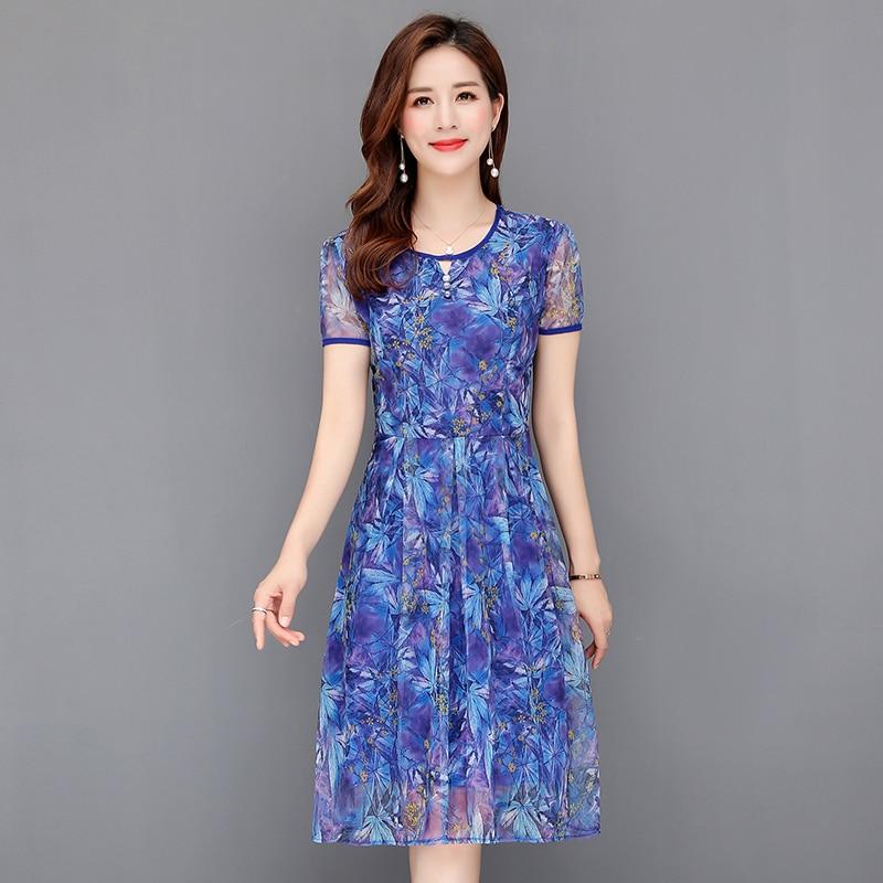 Vestido Midi elegante de talla grande de malla Floral novedad de verano Maxi vestido veraniego de playa para mujer 5XL vestido Bodycon bohemio fiesta para mujer