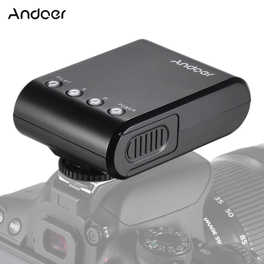 Andoer WS-25 Mini Digital Slave Flash Speedlite for Canon Nikon Pentax Sony a7 nex6 HX50 A99 Flash Speedlite w/Hot Shoe GN18