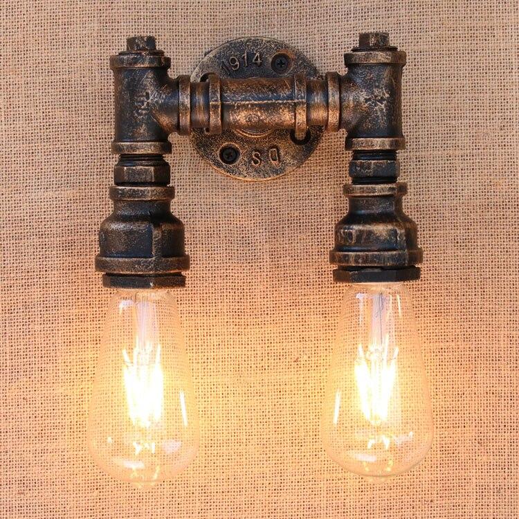 Lámpara De Pared Industrial para Loft, tubo De agua, iluminación del hogar,...